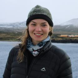 Photo of Christine de Kock photo taken off the coast of the sub-Antarctic island, Marion, while on expedition with the South African National Space Agency