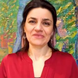 Screen shot of Dr Dora Alexopoulou giving TEDxCambridgeUniversity talk