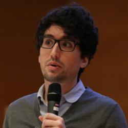 Photo of Jonathan R Goodman presenting at the Language Sciences Symposium November 2019