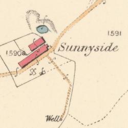 Map showing Sunnyside, Parish of New Cumnock, East Ayrshire, 1845, NS 56185 11252