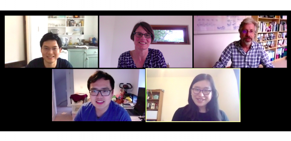 Image of Zoom call with presenters from Cambridge University